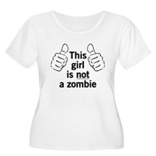 This Girl Not a Zombie (black) Plus Size T-Shirt