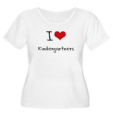 I Love Kindergartners Plus Size T-Shirt