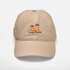 Tampa Florida - Palm Trees Design. Baseball Baseball Cap