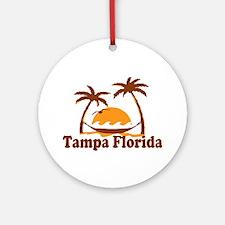 Tampa Florida - Palm Trees Design. Ornament (Round
