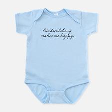 Birdwatching makes me happy Infant Bodysuit