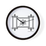 Star Of David Torah Scroll Wall Clock