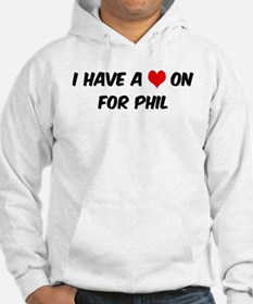 Heart on for Phil Hoodie