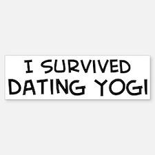 Survived Dating Yogi Bumper Bumper Bumper Sticker