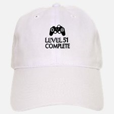 Level 51 Complete Birthday Designs Baseball Baseball Cap