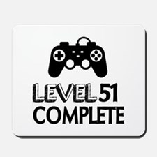 Level 51 Complete Birthday Designs Mousepad