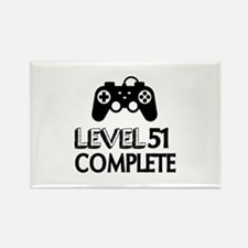 Level 51 Complete Birthday Design Rectangle Magnet