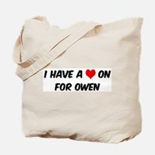 Heart on for Owen Tote Bag