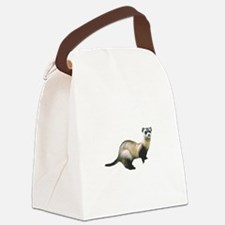 Black Footed Ferret Canvas Lunch Bag