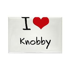 I Love Knobby Rectangle Magnet
