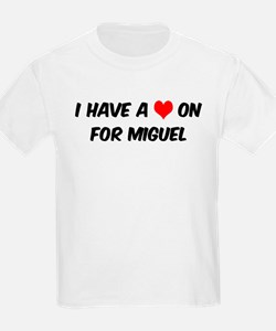 Heart on for Miguel Kids T-Shirt