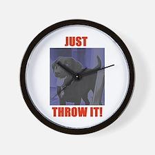 Just Throw It Wall Clock