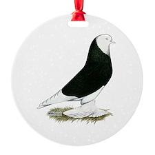 West of England Black Bald Pigeon Ornament
