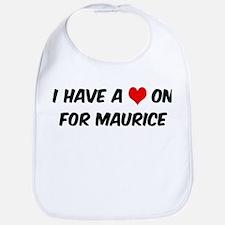 Heart on for Maurice Bib