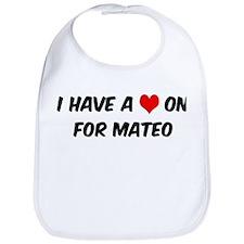 Heart on for Mateo Bib