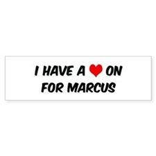 Heart on for Marcus Bumper Bumper Sticker