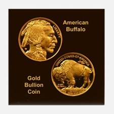 American Buffalo Gold Coin Tile Coaster