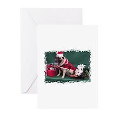 PUG CHRISTMAS Greeting Cards (Pk of 10)