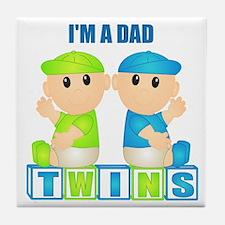 I'm A Dad (BBB:blk) Tile Coaster