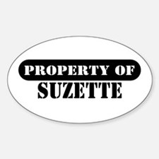 Property of Suzette Oval Decal