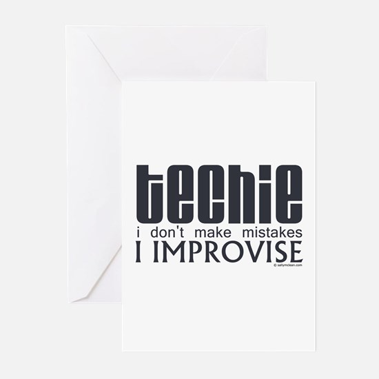 Techie Improvise Greeting Cards (Pk of 10)