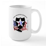 2nd infantry division Large Mugs (15 oz)