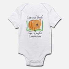 Cute Cats and Books Infant Bodysuit