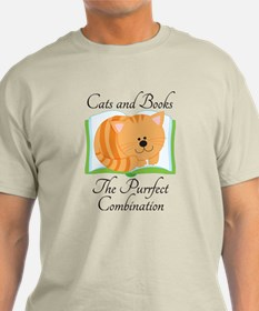 Cute Cats and Books T-Shirt