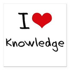 "I Love Knowledge Square Car Magnet 3"" x 3"""