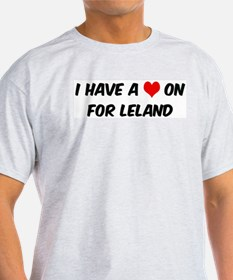Heart on for Leland Ash Grey T-Shirt