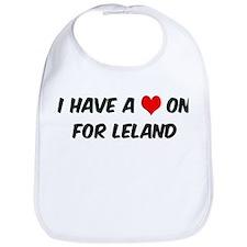 Heart on for Leland Bib