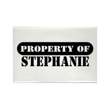 Property of Stephanie Rectangle Magnet