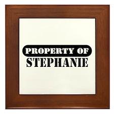Property of Stephanie Framed Tile