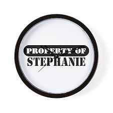 Property of Stephanie Wall Clock