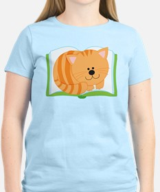 Book and Kitty Cat T-Shirt