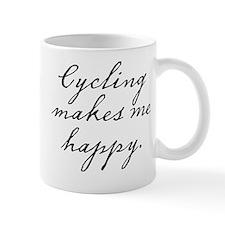 Cycling makes me happy Mug