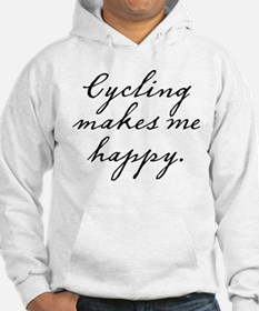 Cycling makes me happy Hoodie