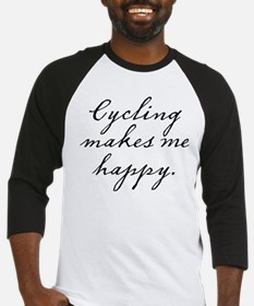 Cycling makes me happy Baseball Jersey