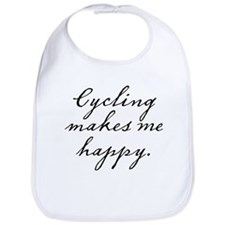 Cycling makes me happy Bib