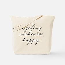 Cycling makes me happy Tote Bag