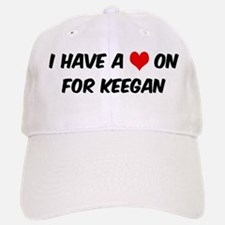 Heart on for Keegan Baseball Baseball Cap