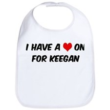 Heart on for Keegan Bib