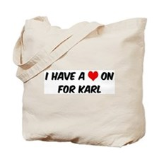 Heart on for Karl Tote Bag