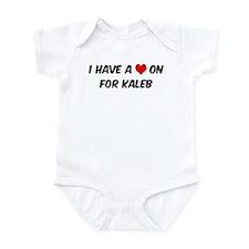 Heart on for Kaleb Infant Bodysuit