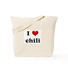 I Love chili Tote Bag