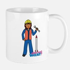 Rocket Scientist Woman Dark Mug