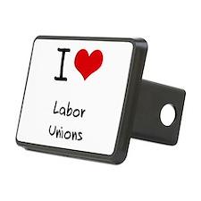 I Love Labor Unions Hitch Cover