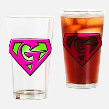 Super_G_2 Drinking Glass