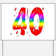 Confetti Rainbow 40 Yard Sign