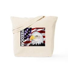 Freedom Flag & Eagle Tote Bag